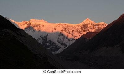 Sunrise over the mountain - Elbrus area