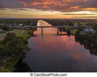Sunrise over the Nepean River