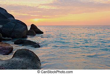 Sunrise over the ocean, Thailand