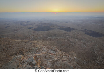 Sunrise over the Ramon Crater, Israel