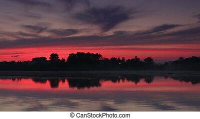 Sunrise over the reservoir