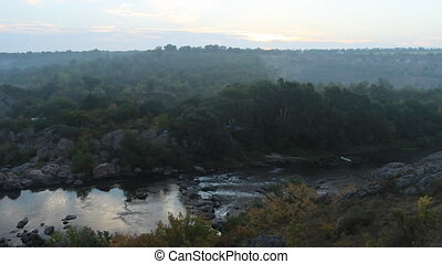 sunrise over the river canyon (Southern Bug)