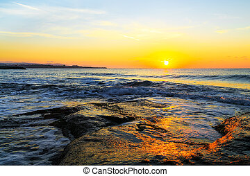Sunrise over the sea, Black sea coast, Bulgaria