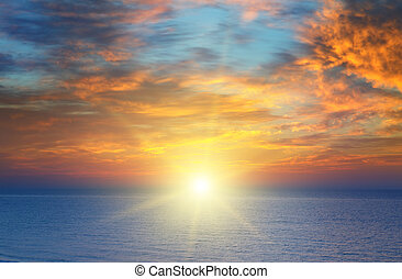 sunrise over the sea