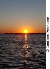 Sunrise over the Skyline of Venice