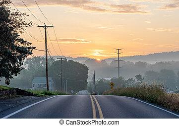 Sunrise over the Street