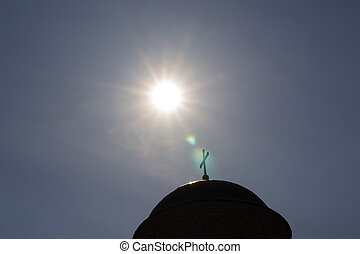 sunrise over the temple