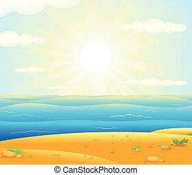 Sunrise over the Tropical Beach