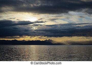 Sunrise Over the Water in Alaska