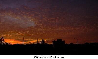 Sunrise Over Train statioon