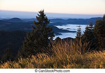 Sunrise over Willamette Valley, OR