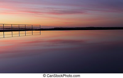 Sunrise reflections are peaceful meditations to purify the...