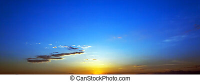 Scenic sunrise sky background.