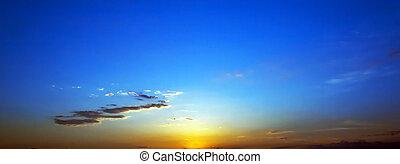 Sunrise. - Scenic sunrise sky background.