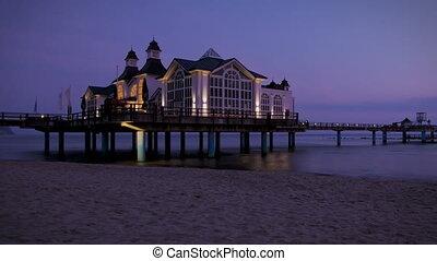 Sunrise Sellin Pier - Timelapse Sunrise Baltic Sea at Pier...