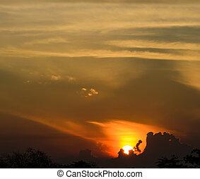 Sunrise Sky over clouds