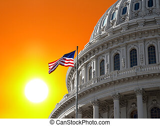 Sunrise Sky over US Capitol