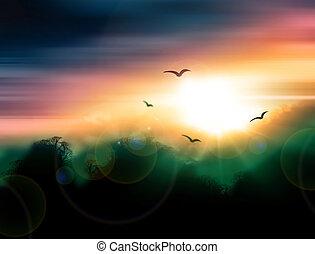 sunrise - a beautiful landscape