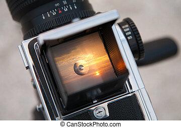 Sunrise through the viewfinder