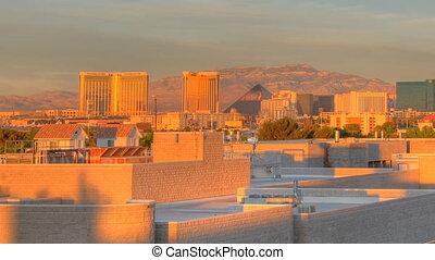 Sunrise Time Lapse Las Vegas Panning