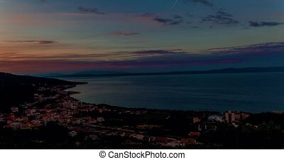 Sunrise time lapse Tucepi