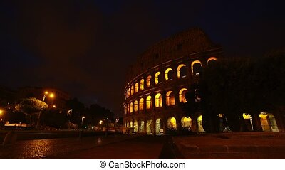 Sunrise timelapse Colosseum in Rome Italy