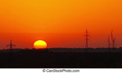 sunrise., verão, paisagem.