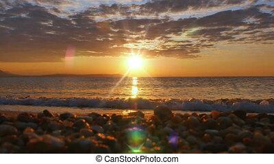 sunrise wave sea 4k