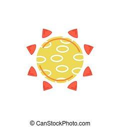 sunrise weather symbol isolated icon