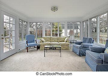 sunroom, 中庭, 光景