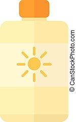 Sunscreen cream vector illustration. - Bottle suntan cream...