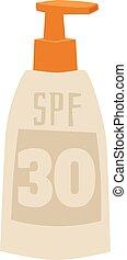Sunscreen cream vector illustration. - Cream sunscreen...