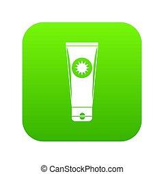 Sunscreen icon digital green