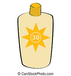 Sunscreen lotion - Cartoon illustration of a sunscreen ...