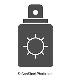 Sunscreen solid icon. Protection lotion vector illustration isolated on white. Skin care glyph style design, designed for web and app. Eps 10.