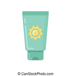 Sunscreen tube flat icon