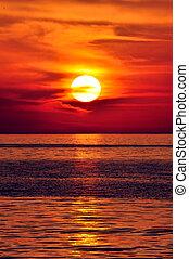sunset., כרתים, greece.