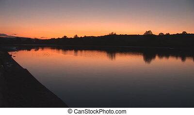 sunset 29 - sunset on lake