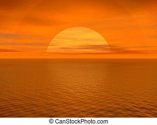 A sunrise, sunset.