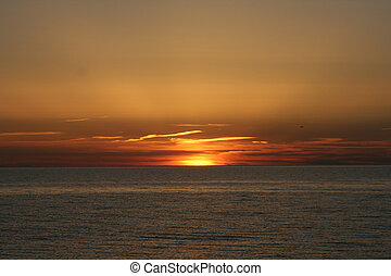A sunset near the sea