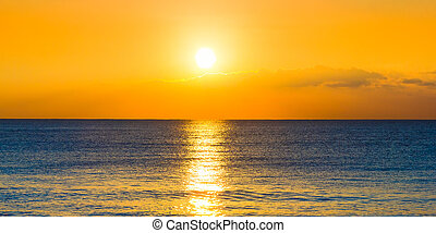 Sunset and the ocean