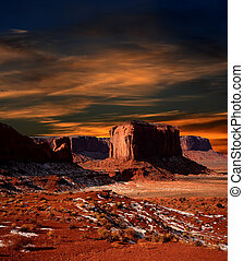 Sunset Arizona Monument Valley