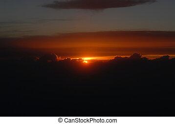 Sunset at 10,000 feet
