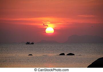 Sunset at Andaman sea, Thailand