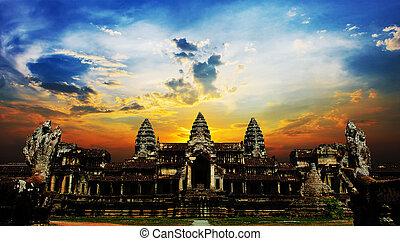 Sunset at Angkor Wat, Siem Reap, Cambodia