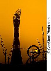 Sunset at Aspire Doha