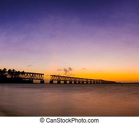 Sunset at Bahia Honda park, Florida