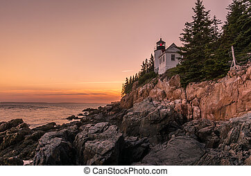 Sunset at Bass Harbor Head Light