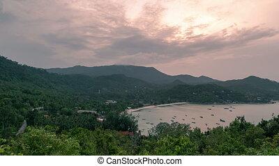Sunset at Bay Thong Nai Pan Yai beach, Paradise, Malibu or...
