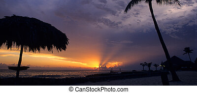 Sunset at Bayahibe-Dominican republic